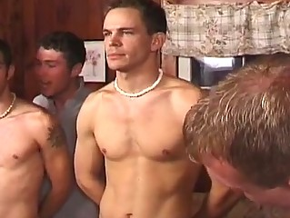 Hot group gay sex party with torrid hunks