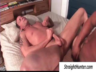 One blithe hunks in bed pounding transmitted to ass and jerking wanting his blarney
