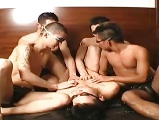 A Japanese unconcerned orgy delight