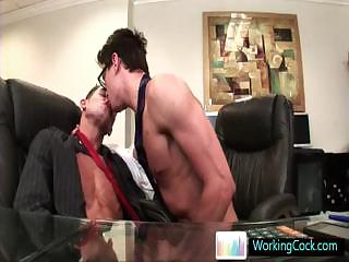 Seth having some well-pleased porn distraction with colleague Off out of one's mind WorkingCock part3