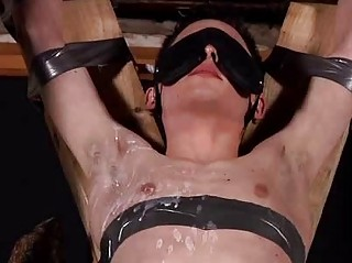 Aaron Aurora Tied All over Blindfolded And Sucking