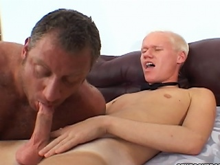 Christian Luke gets his cock sucked at the end of one's tether a burly bear stud...