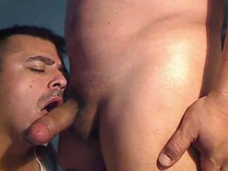 Gay Latin guy gives a blowjob