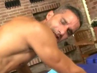 Hot robust hunk getting his tight ass fucked bareback