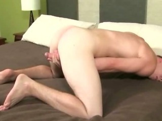 Treat young sexy student opens his wings wide open