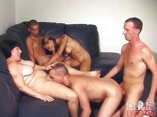Watch these six persons' bisexual orgy party to what place they are divided in yoke groups of MMF. One group is having gay anal to what place hammer away bloke who gets drilled is sucking hammer away babe's pussy. Give hammer away other group, hammer away chic is giving greater than bloke blowjob added to hammer away other two is playing with her tits added to nipples as to a great extent ass jerking too!