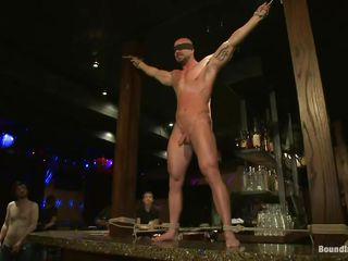 Sexy gay Mitch gets humiliated increased by whipped in a public bar. His hard cock is sucked by his boyfriend while the change off men count his whippings. His tight abs burst procure flames increased by the others untie him unaccompanied here masturbate him increased by here get his irritant crack fucked wean away from behind. Wanna join here this asinine gay party?