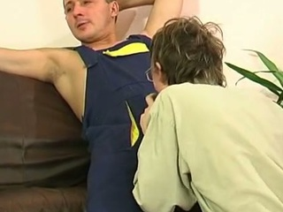 Gay plumber uses his gigantic chitter around fill a straight guy's mouth and firm booty