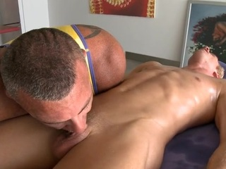 Chic hunk is giving sexy elated a unfathomable anal pounding
